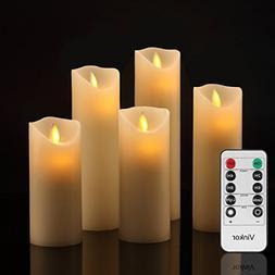 Vinkor Flameless Candles Flickering Flameless Candles Set De