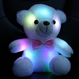 Wewill Luminous Night Light Glow Teddy Bear LED Colorful Stu