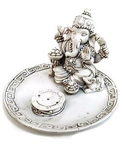 White Beautiful Lord Ganesh Incense Sticks Holder - Ganesha,