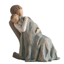 Willow Tree hand-painted sculpted figure, The Quilt
