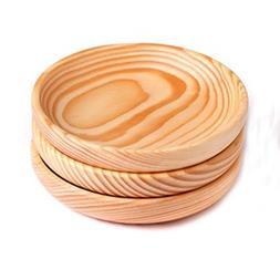 XH® 3pcs Japanese Cuisine Cedarwood Wooden Bowl for Rice Mi