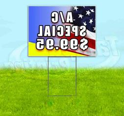 a c special 99 95 yard sign