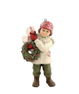 Bethany Lowe A Child's Christmas Delivery Danny Boy Wreath G