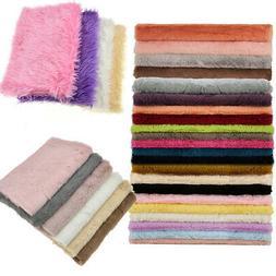 A4 Half Yard 1 Yard Faux Fur Plush Winter Fabric Sewing Home