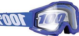 100% ACCURI Enduro Goggles Reflex Blue - Clear Dual Lens, On