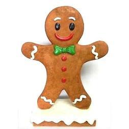 ADORABLE GINGERBREAD BOY STATUE FIGURINE CHRISTMAS  XMAS  DE