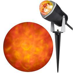 Gemmy Airblown Lightshow Spot Light Kaleidoscope Orange Fire