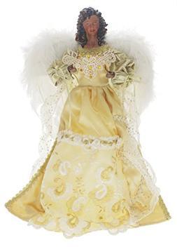 "Seasons Designs 16"" African American Gold-Robed Angel Tree T"