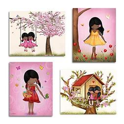 African American Art for Girls Bedroom Set of Posters Kids R