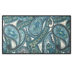 Silk & Sultans Agathe Collection Contemporary Blue Paisley D