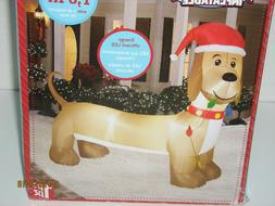 Gemmy Airblown 6 Ft Inflatable Christmas Wiener Dog Dachshun