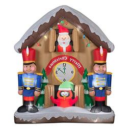 Gemmy Airblown Animated Santa Clock Inflatable