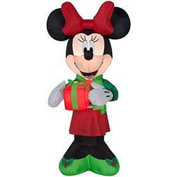 Gemmy Airblown Christmas Inflatable Minnie w/Present 5' Tall