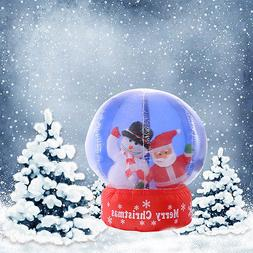 4Ft Airblown Inflatable Santa Christmas Gemmy SnowGlobe Deco