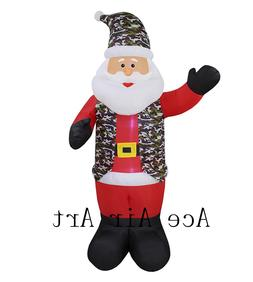 Airblown Inflatable Santa Claus <font><b>Snow</b></font> <fo