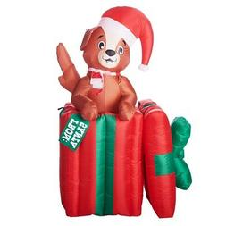 Holiday Time Airblown Inflatables Christmas Decor 5' Puppy P
