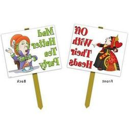 "Beistle Alice in Wonderland Yard Sign , Multicolor, 12"" x 15"