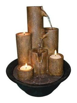 Alpine Tabletop Fountain With Tea Light Candles