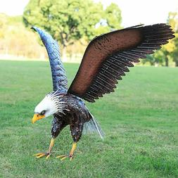 America Eagle Statue Sculpture Garden Bird Yard Decor Lawn S
