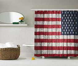 Ambesonne American Flag Shower Curtain USA Decor by, Fourth