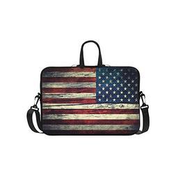 InterestPrint American Flag Laptop Sleeve Case Bag, USA Flag