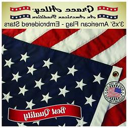 ab0b9f89a3d6 Grace Alley American Flag  American Made 3x5 FT US Flag Made