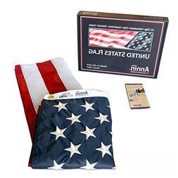 Annin Flagmakers Model 2460 American Flag 3x5 ft. Nylon Sola