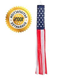 60-inch American Flag Windsock. Full-length  Stars and Strip