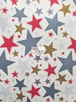 AMERICAN STARS RILEY BLAKE 100% COTTON DUCK FABRIC - White 1