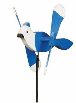 amish made whirlybird yard decoration blue jay