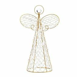 Christmas Tree Angel Topper, Beaded Decoration Yard Outdoor