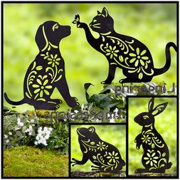 Animal Silhouette Garden Yard Stake Outdoor Lawn Decor in CA