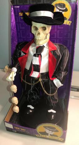 Animated Swingin' Skelly Zoot Suit Dancing singing Skeleto