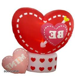 6 Foot Animated Valentine's Inflatable Hearts - Heart Rotate