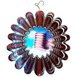 Animated Wind Spinner - Patriotic Garden Lawn Yard Spinner -