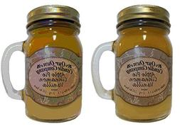 Apple Pie Cinnamon Vanilla Scented Candle in Mason Jar by Ou