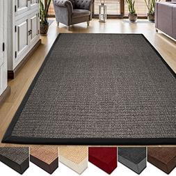casa pura® Area Rug   Sisal Non-Slip Rug for Living Room or
