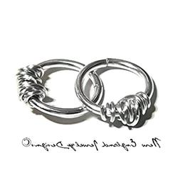 1 PC Argentium Sterling Silver Barbed Wire Piercing Cartilag