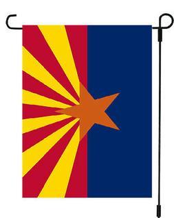 Arizona State Copper Star Rays Garden Banner Flag 12x17 Yard