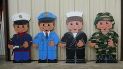 Army, Marine, Navy, or Air Force Military Boy Yard Art Decor