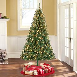 Holiday Time Pre-Lit 6.5' Madison Pine Green Artificial Chri