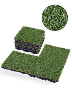GOLDEN MOON Artificial Grass Turf Tile with Upgrade Interloc