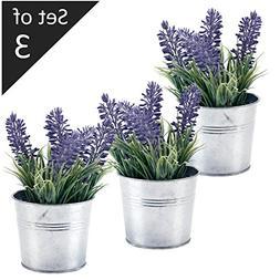 6-inch Artificial Lavender Plant Decor, Faux Flowers with Me
