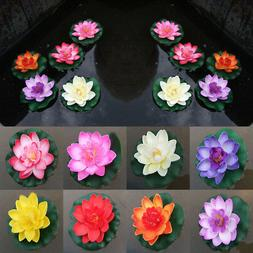 Artificial Water Lily Floating Flower Lotus Garden Yard Pond