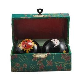 Asian Chinese Sun and Moon Stress Health Balls with Chimes