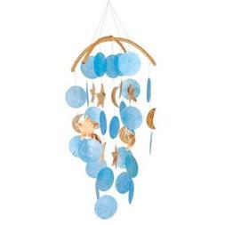 Woodstock Asli Arts Collection, Dark Blue Capiz Chime with M