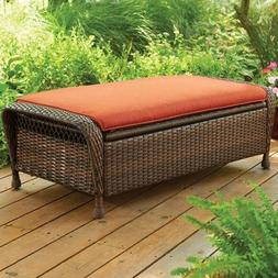 Better Homes and Gardens Azalea Ridge Storage Ottoman - Rust