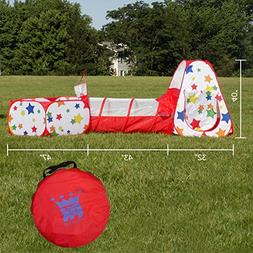 Ball Pit Pop Up Play Tent And Crawl Tunnel by Pizzazz Kids  