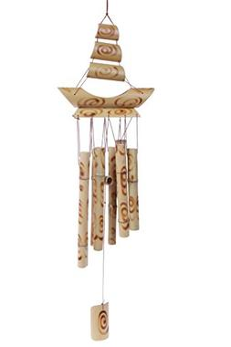 Outdoor Bamboo Wind Chime- Bamboo Wind Bell - Beige 24 Inch