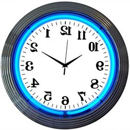 Neonetics Bar and Game Room Neon Alphanumeric Wall Clock wit